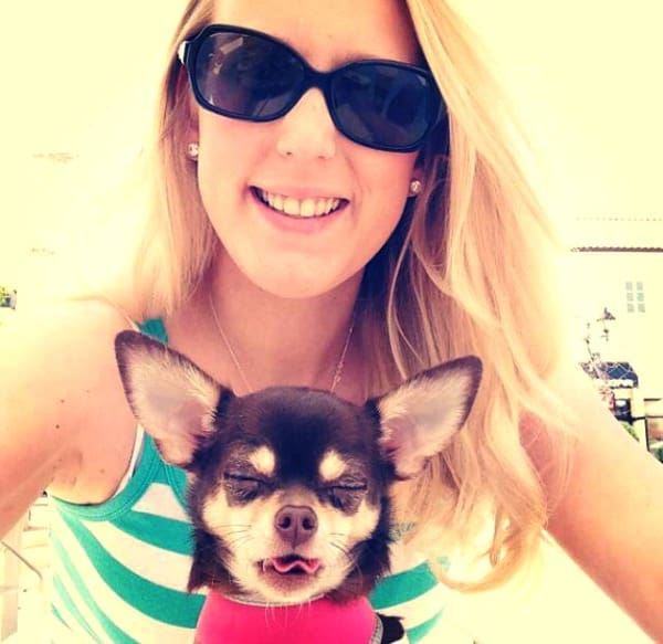 Jill Elizabeth and Chihuahua