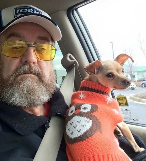 Chloe the Chihuahua and her dad