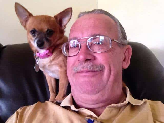 Princess the Chihuahua and her dad Ralph