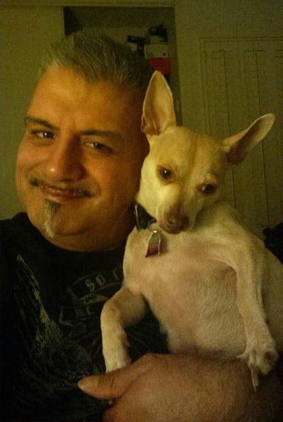 Prince the Chihuahua and his dad