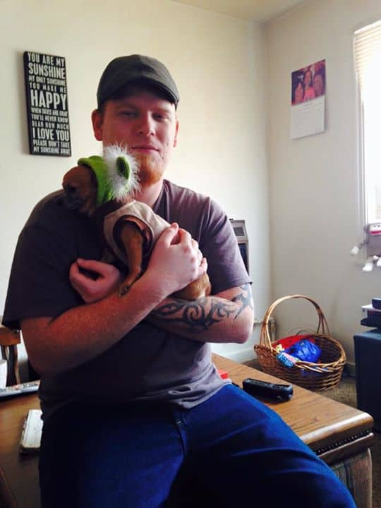 Chezbot the Chihuahua and dad