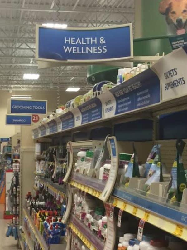 Health and Wellness isle at PetSmart