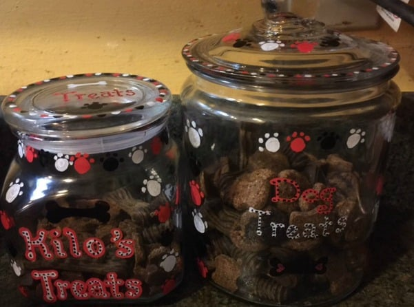 Jars with treats