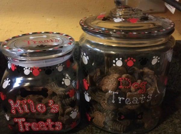 Jars with treats