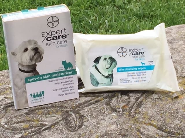 BayerExpertCare spot-on moisturizer and skin cleansing wipes
