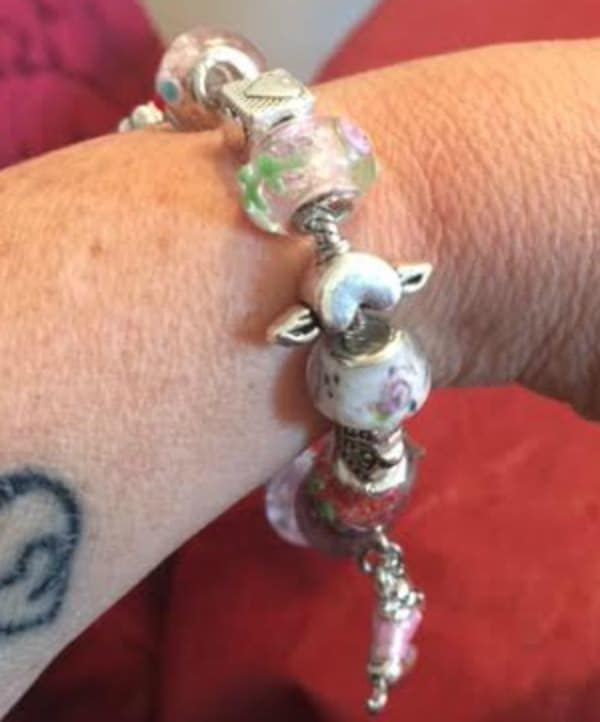 Pink Pandora like bracelet