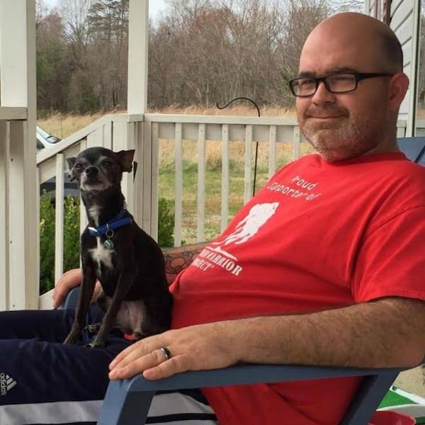 Howard Hamlett and Shade the Chihuahua