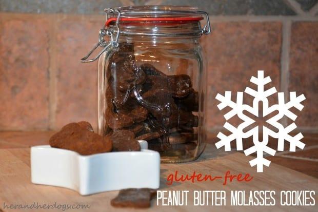 peanut butter molasses cookies