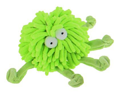 Multipet Sea Shammie 6-Inch Plush Octopus Dog Toy, Green