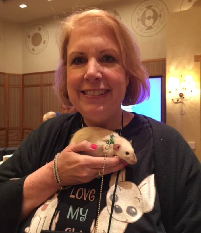 Cathy and baby rat
