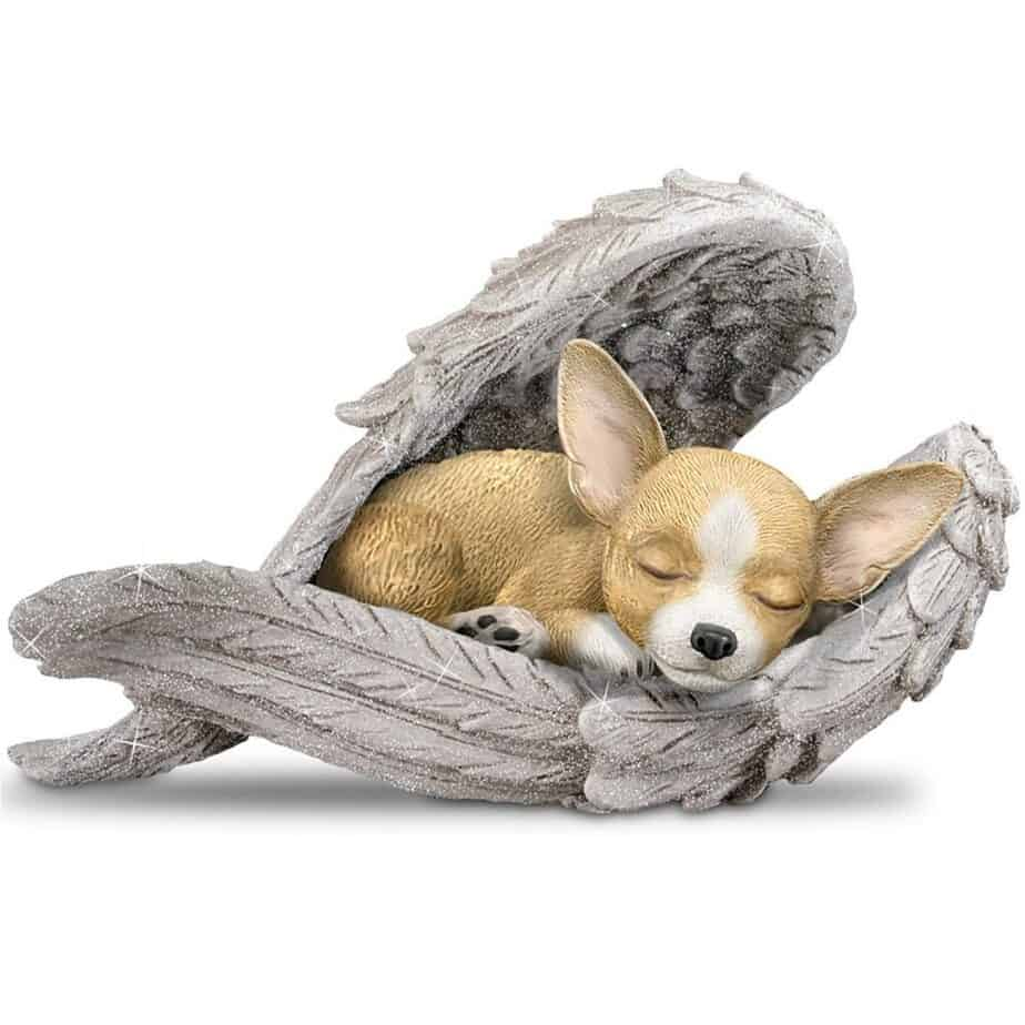 Blake Jensen Chihuahua Leave Paw Prints On Our Hearts Wrapped In Angel Wings Figurine