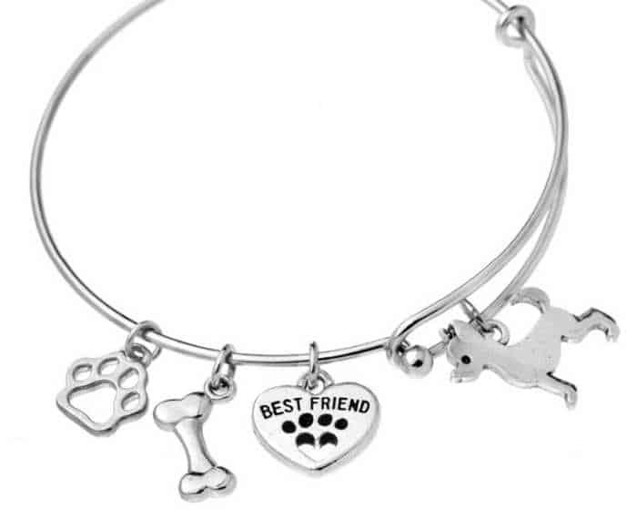 silver Chihuahua Charm Bracelet