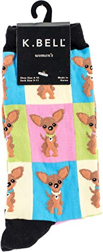 K. Bell Socks Women's Chihuahua Novelty Crew
