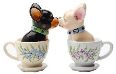 Tea Cup Pups Magnetic Salt & Pepper Shaker Set