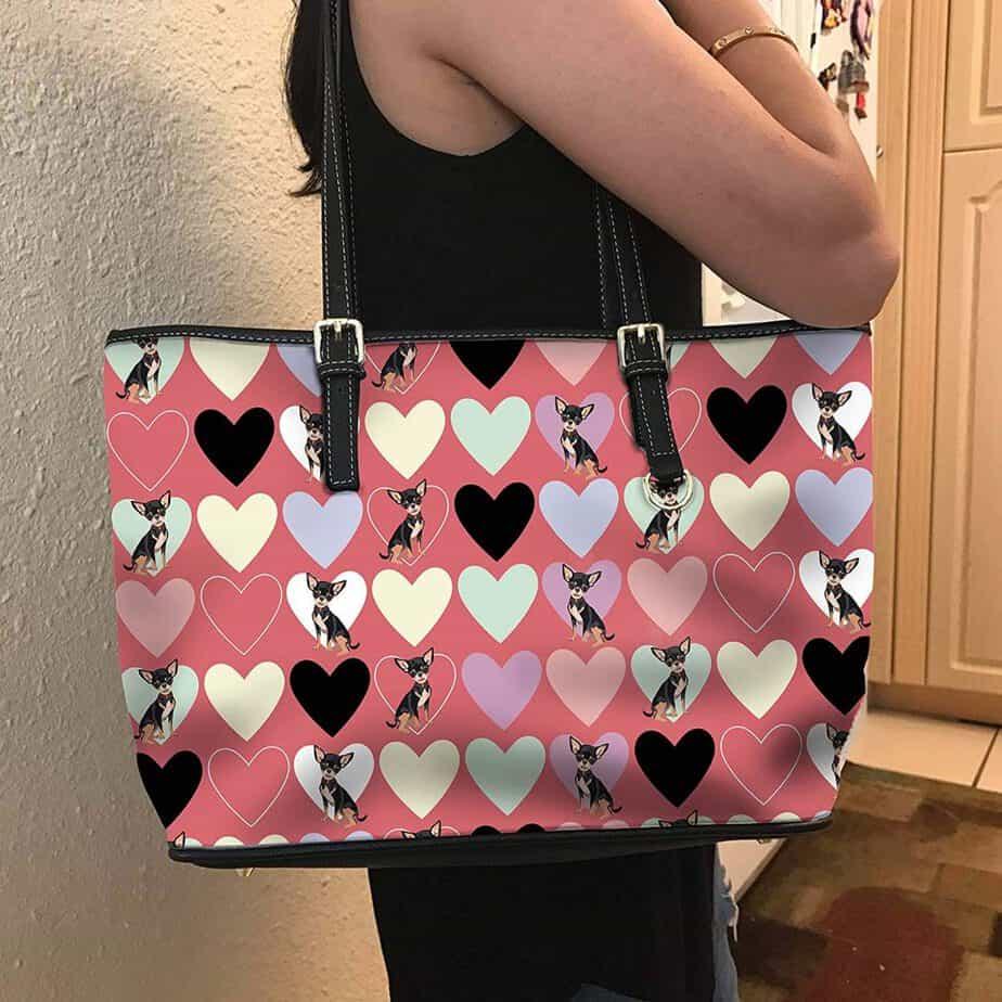 VOTANTA - Chihuahua heart Tote Bag