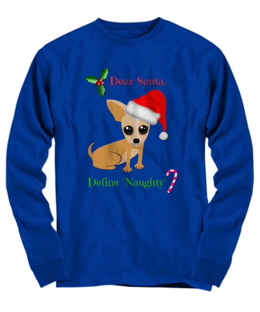 Christmas chihuahua shirt