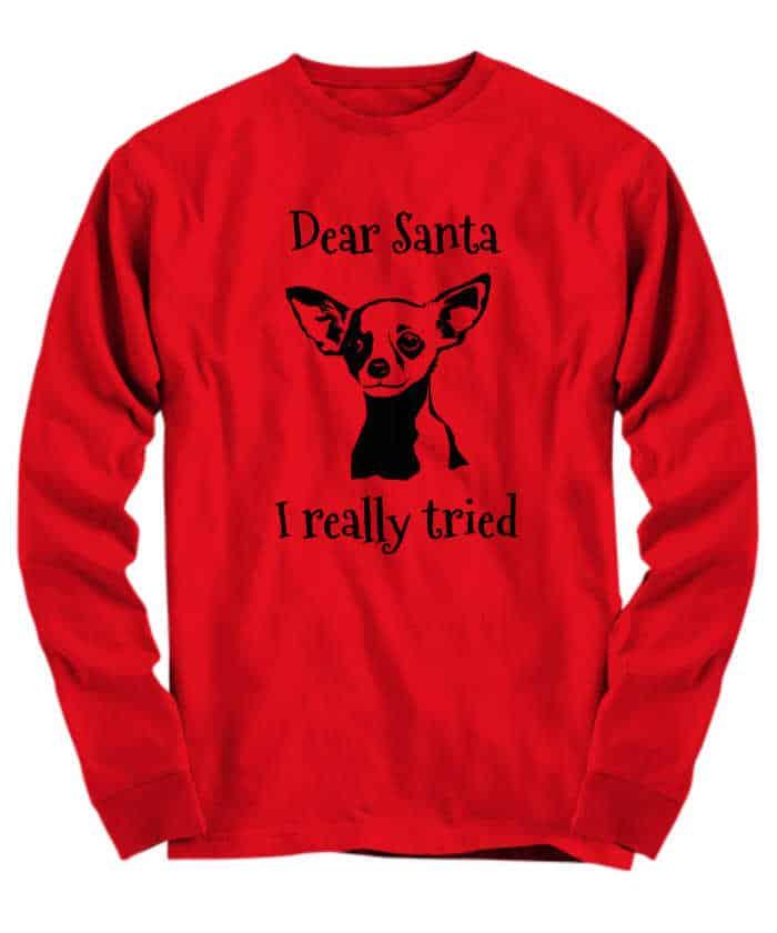 Funny Christmas Chihuahua shirt