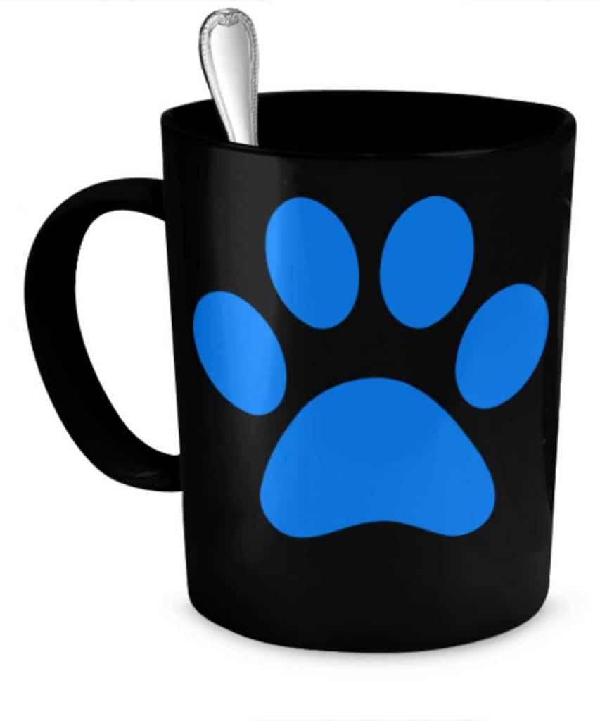 Blue Paw Mug