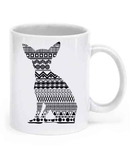 Patterned Chihuahua Mug