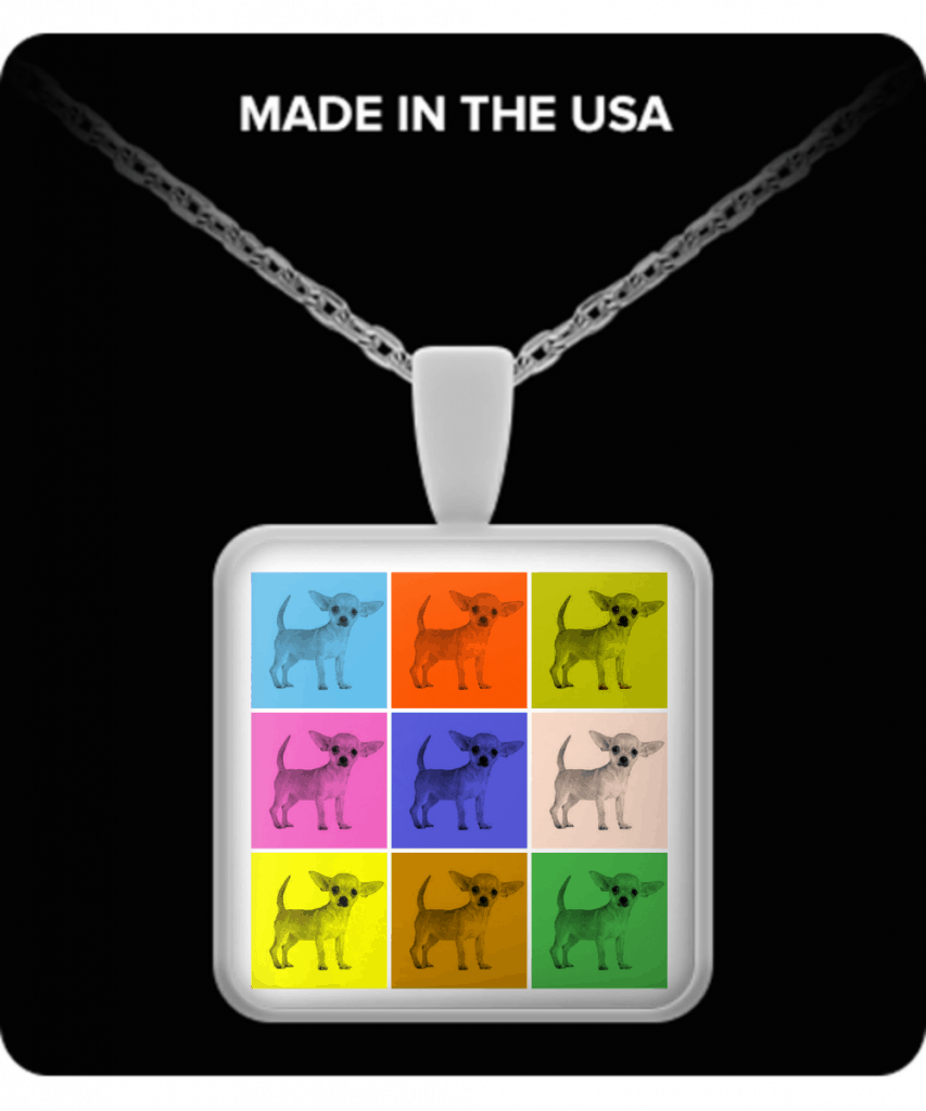Warhol Style Chihuahuas Necklace