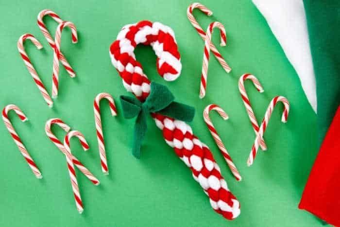 candy cane dog toy