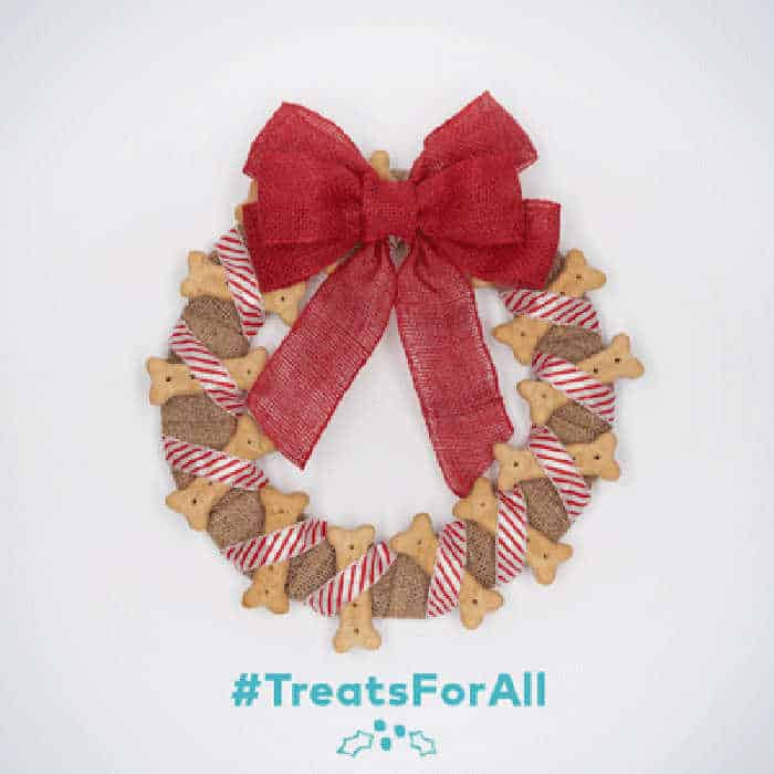 wreath made of milkbones