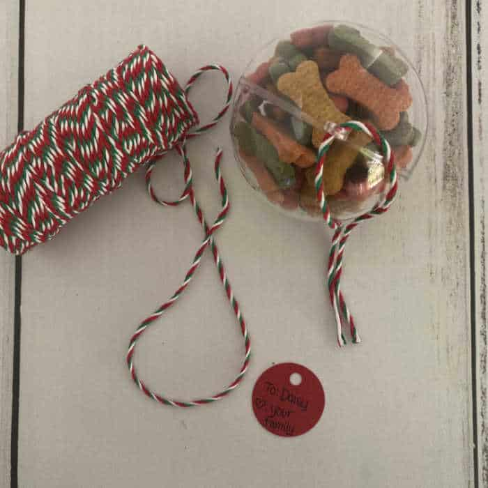 twine and tag and ornament