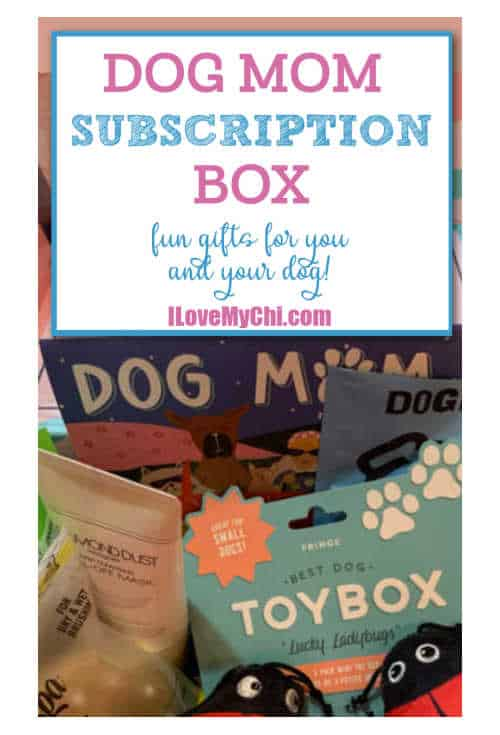 dog products in box