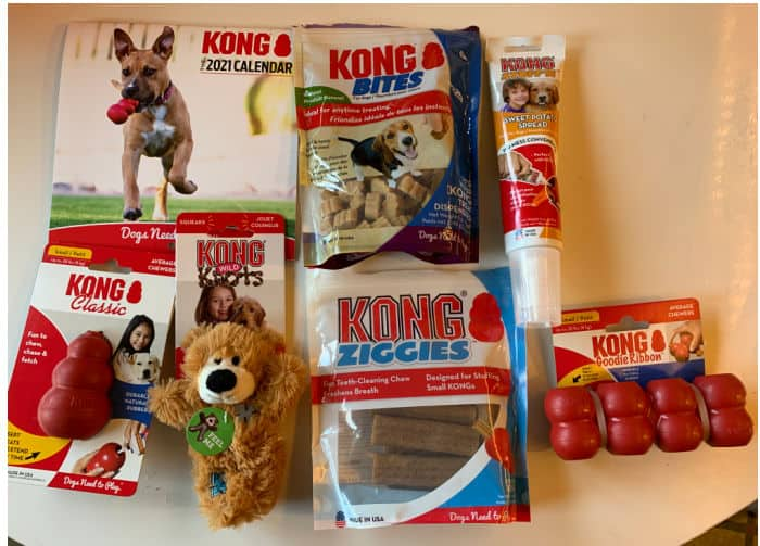 Kong toys and treats