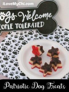star dog treats on plate