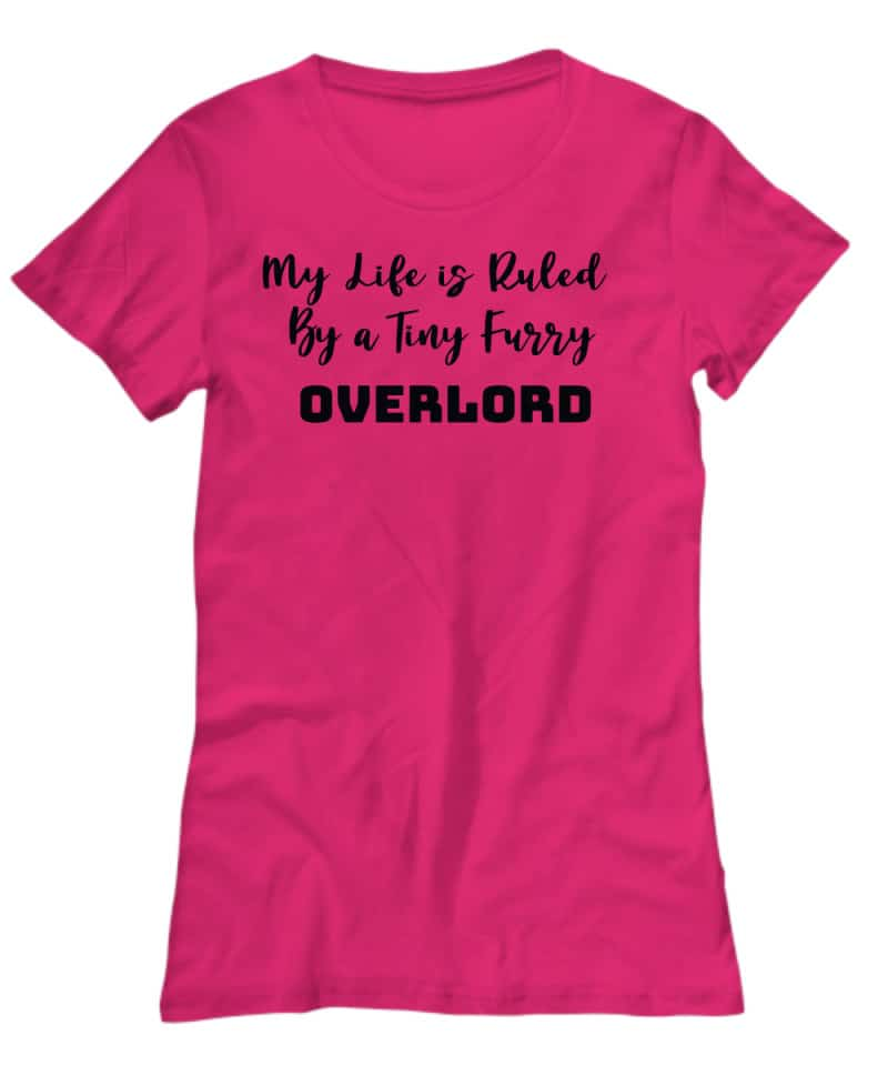 pin Tshirt says My Life is Rules bya Tiny Furry Overlord