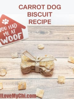 carrot dog biscuits and treats on wood surface
